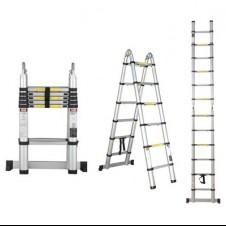 Лестница телескопическая алюминиевая 218/440см 16кг STARTUL