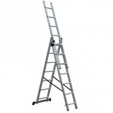Лестница-стремянка трехсекционная АЛЮМЕТ 5312